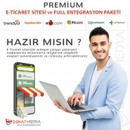 PREMİUM ETİCARET SİTESİ + FULL ENTEGRASYON PAKETİ