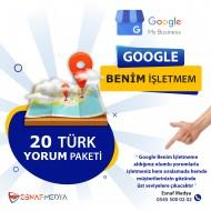 GOOGLE Benim İşletmem 20 Türk Yorum Paketi