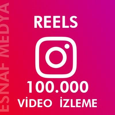 İnstagram Reels  100.000 Video Görüntüleme Arttırma