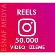 İnstagram Reels  50.000 Video Görüntüleme Arttırma