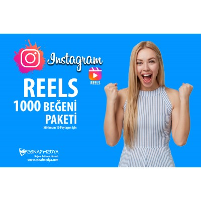 İnstagram 1000 Reels Oto Beğeni (  Minimum10 Paylaşım için )