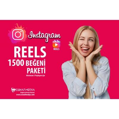 İnstagram 1500 Reels Oto Beğeni (  Minimum5 Paylaşım için )