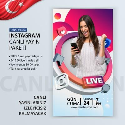 İnstagram TÜRK Canlı Yayın İzleyici Arttırma Paketi 1000 İZLEYİCİ