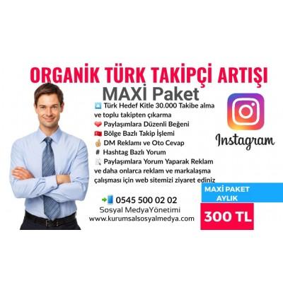 Organik Takipçi Arttırma Maxi Paket