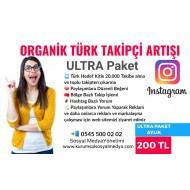 Organik Takipçi Arttırma Ultra Paket