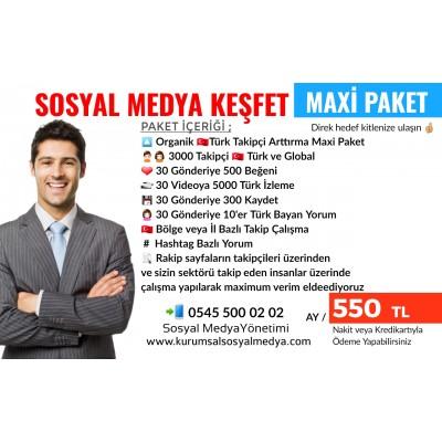 İnstagram Keşfet Maxi Paket