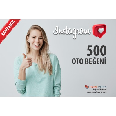 İnstagram 500 TÜRK Oto Beğeni Paketi ( 10 Paylaşım için )
