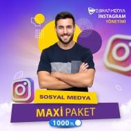 İnstagram Sosyal Medya Yönetimi Maxi Paket