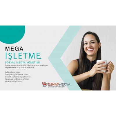 Kurumsal MEGA İşletme  Sosyal Medya Paketi / Aylık